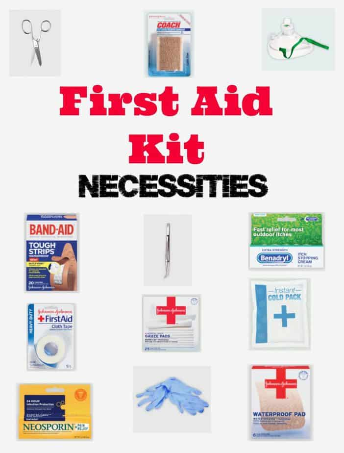 first aid kit necessities
