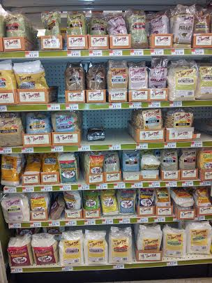 gluten free products shelf