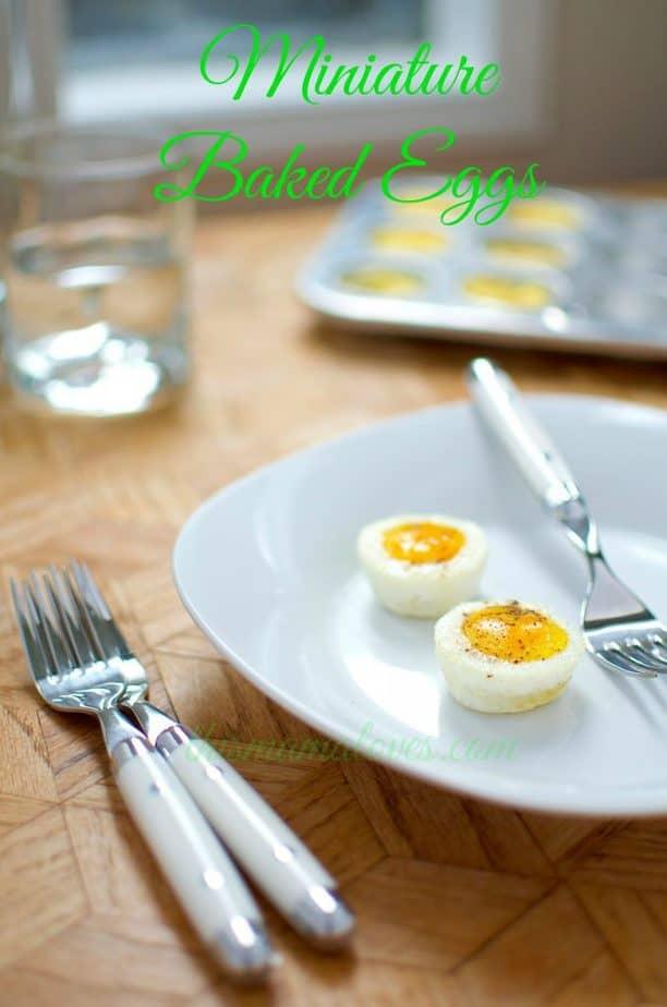 miniature baked eggs
