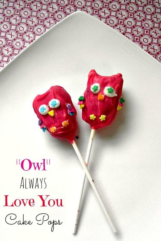 owl always love you cake pop recipe