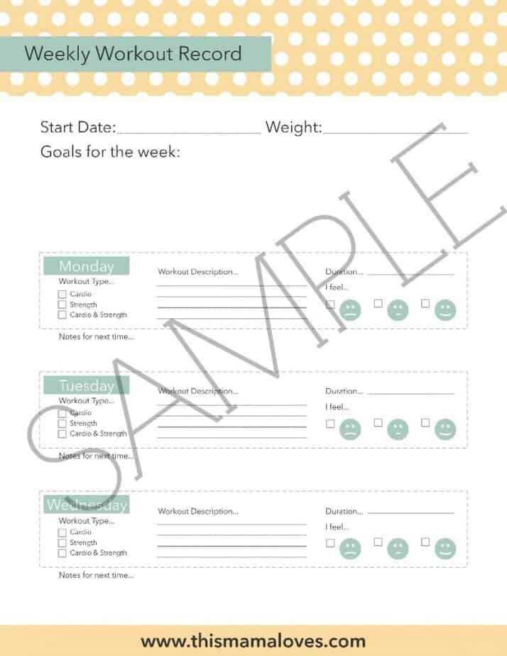 image regarding Workout Tracker Printable known as How toward conquer health prevention furthermore No cost Printable
