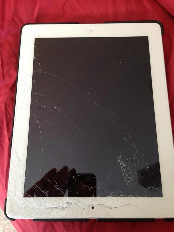 shattered ipad