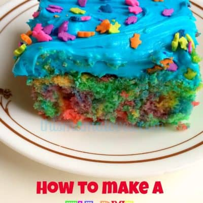 How to Make a Tie Dye Cake