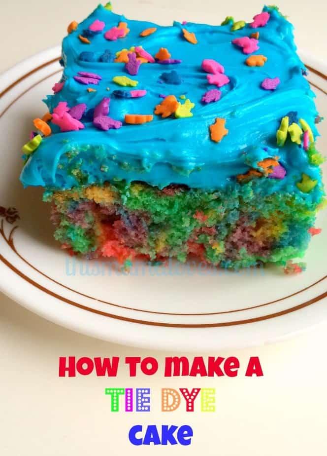 tie dye cake finished