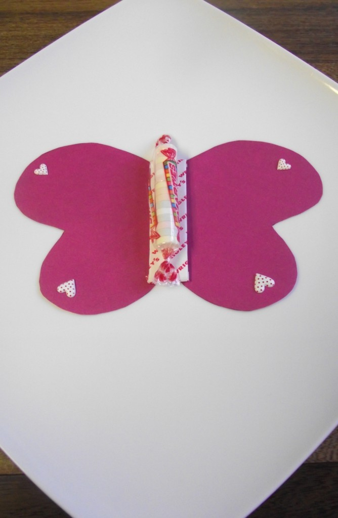 valentines day candy craft butterfly