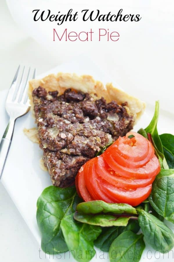 weight watchers meat pie