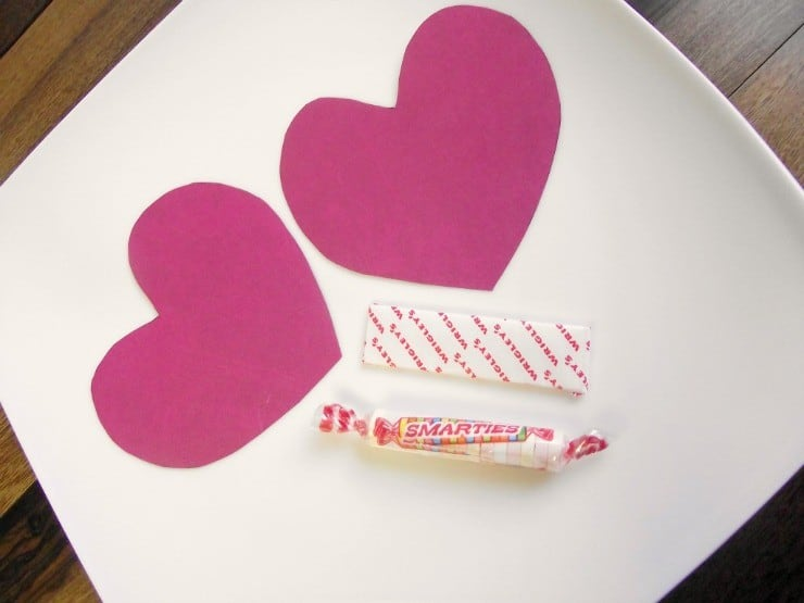 your love gives me valentines candy craft