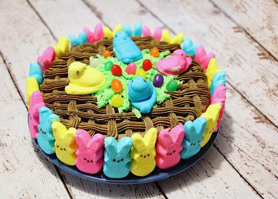 peeps treats cake