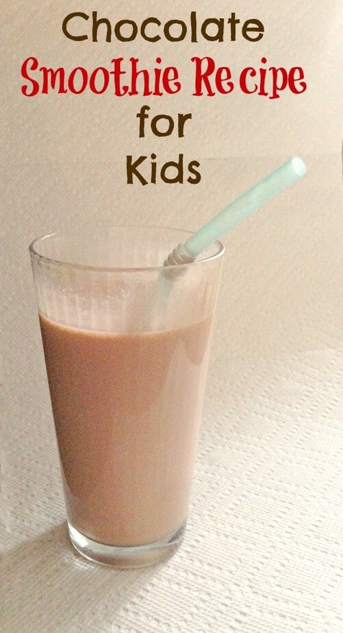 chocolate smoothie recipe for kids
