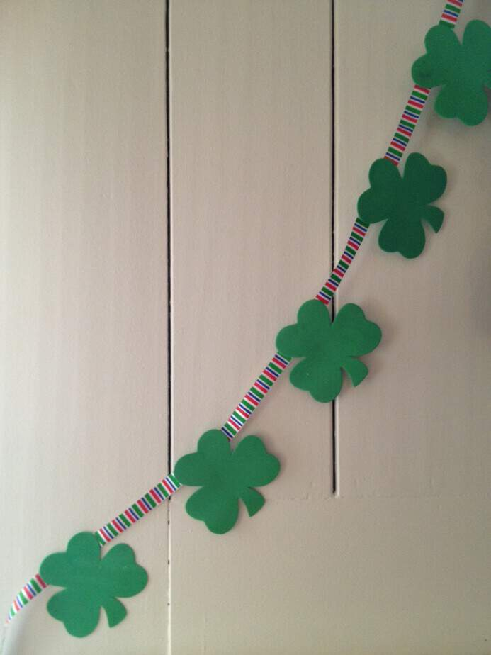 diy st patricks day banner garland