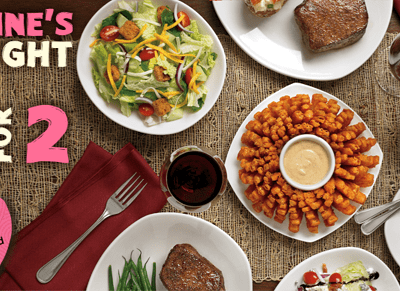 Outback Steakhouse Steak Menu for Two for Valentine's Day