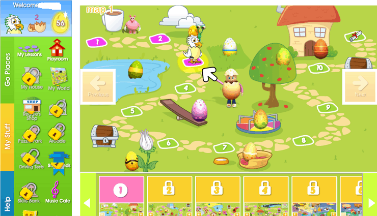 reading eggs lessons map 4 year old