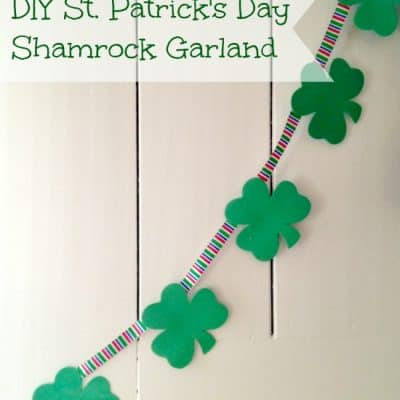 DIY St. Patrick's Day Shamrock Garland