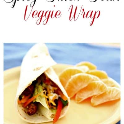 Black Bean Veggie Wrap makes brown bagging fun!