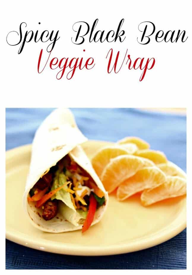 spicy black bean veggie wrap