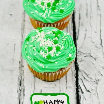 St. Patrick's Day Surprise Inside Cupcake Recipe
