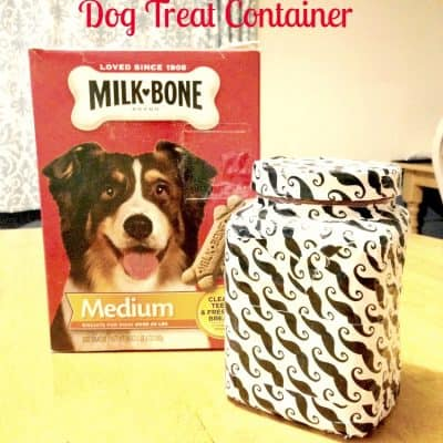 Upcycled Dog Treat Container for a Canine Valentine
