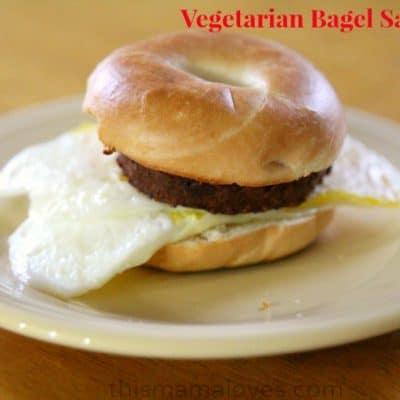 Vegetarian Bagel Sandwich Recipe