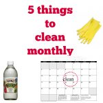 5 things to clean monthly