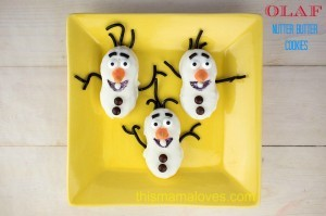 Olaf Nutter Butter Cookies Frozen Movie