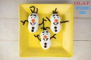 Olaf Nutter Butter Cookies Frozen Movie