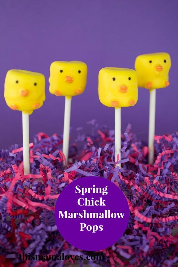 Spring Chick Marshmallow Pops