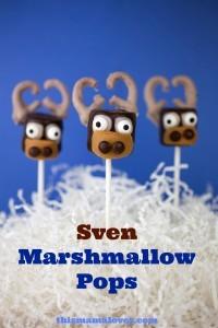 Sven Marshmallow pops