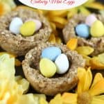 banana oatmeal easter nests cadbury mini eggs