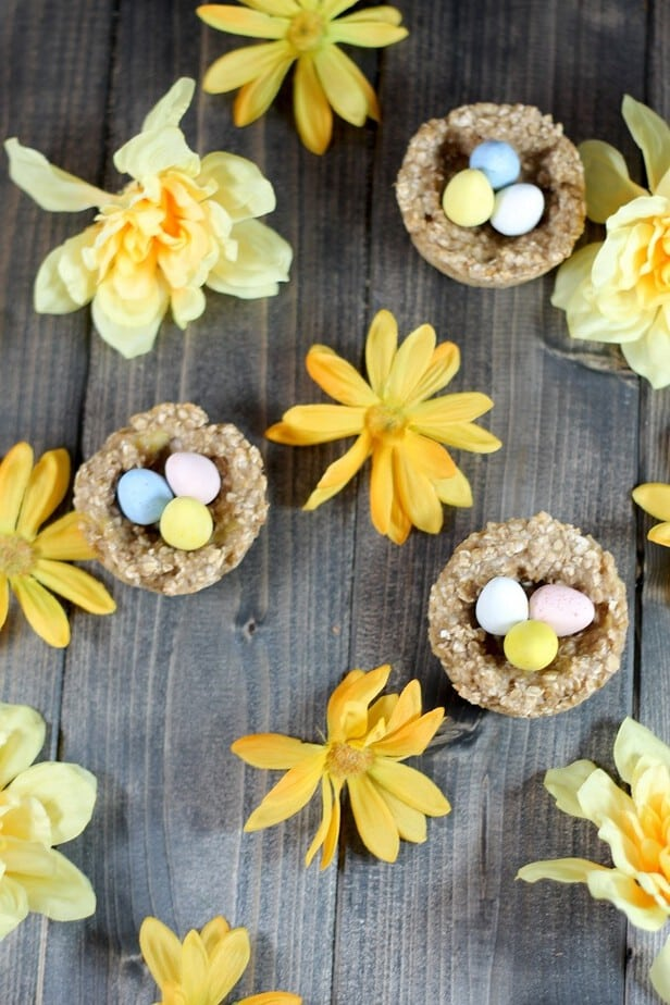 banana oatmeal easter nests