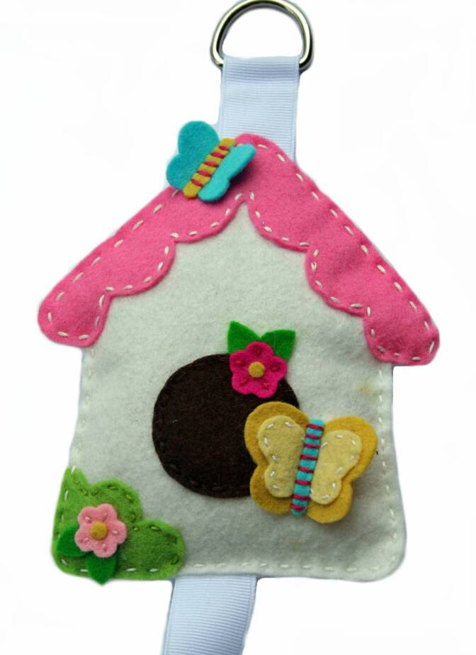 bird house bow holder