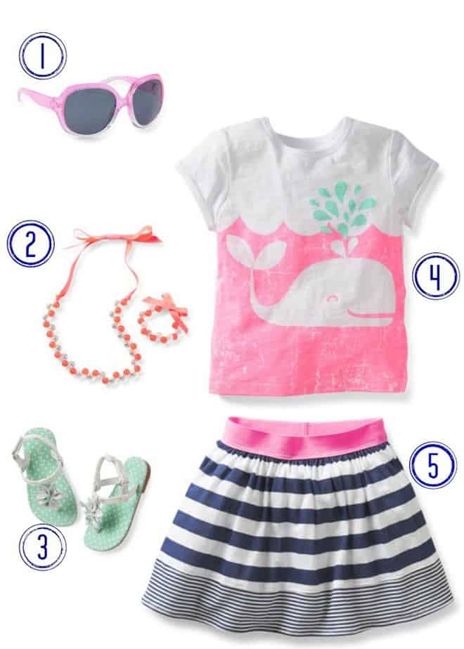 carters spring style skirt outfit