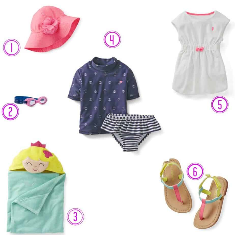 carters swim girl outfit