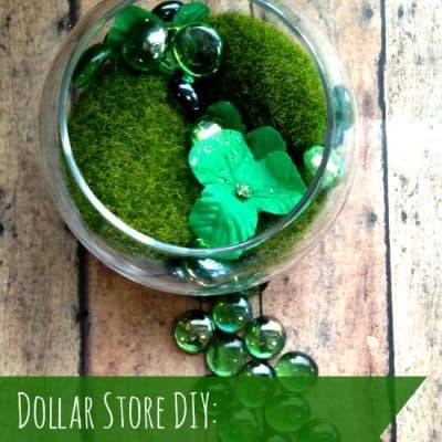 Dollar Store DIY: Lucky Leprechaun Garden
