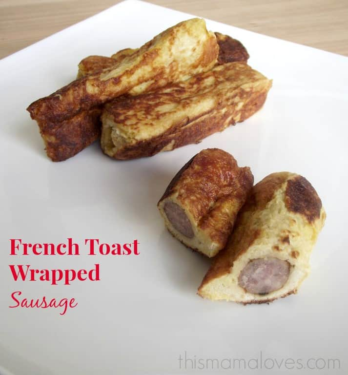 french toast wrapped sausage