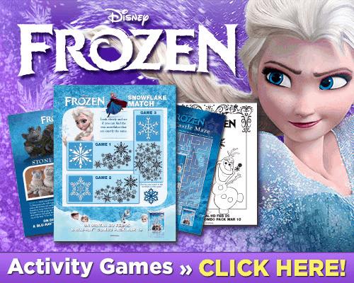 frozen activity games