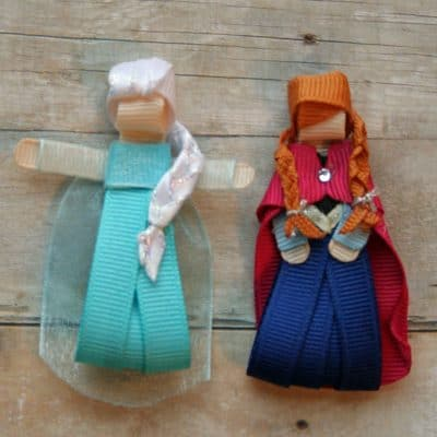 Handmade Anna and Elsa Hair Clips