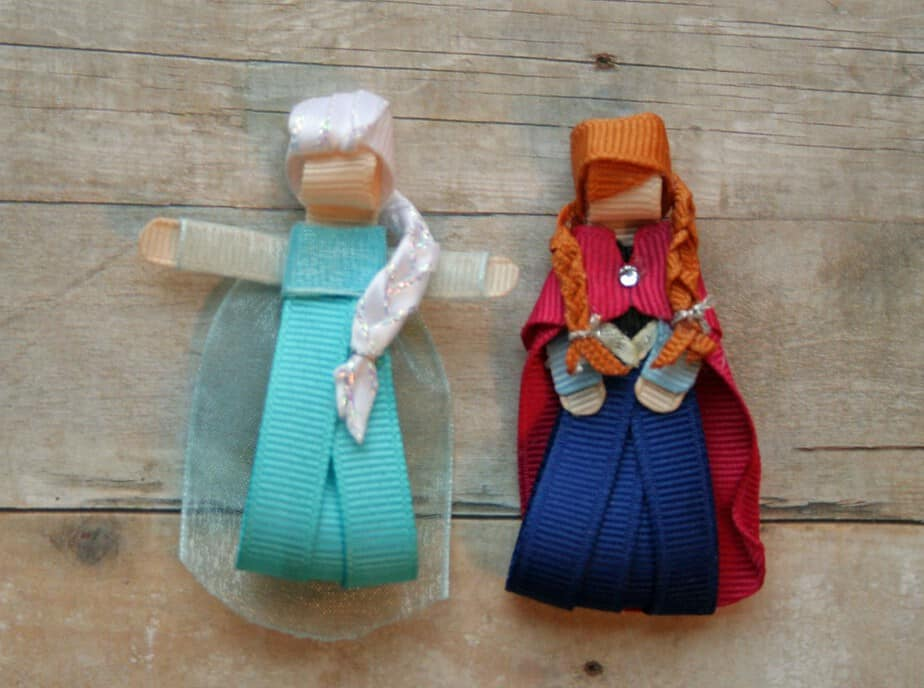 frozen movie anna elsa hair clips