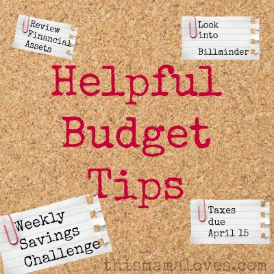 Tips for Tax time and helpful budget tips