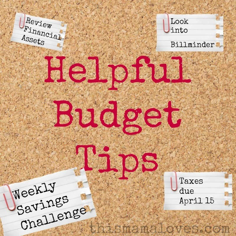 helpful budget tips