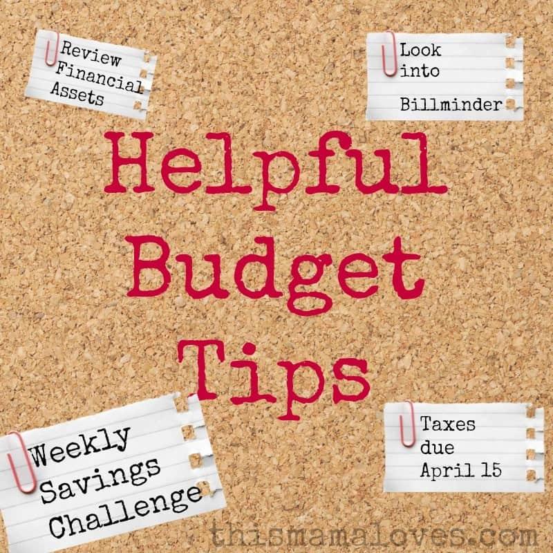 helpful budget tips