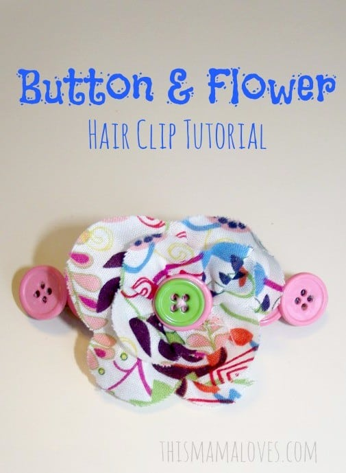 pink-button-and-fabric-flower-hair-clip-tutorial