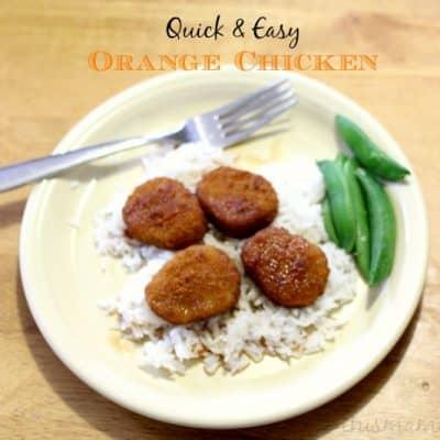 Easy Orange Chicken Recipe (Vegetarian)