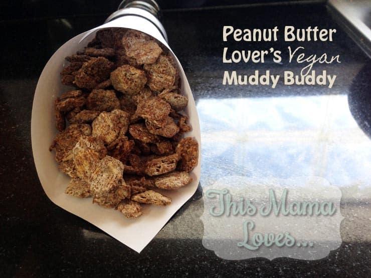 Peanut butter muddy buddy snack