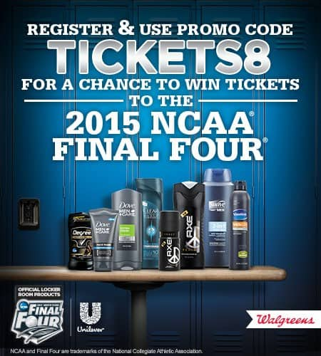walgreens 2015 ncaa final four tickets giveawway