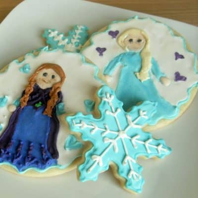 Decorated Sugar Cookies: Disney Frozen Anna and Elsa