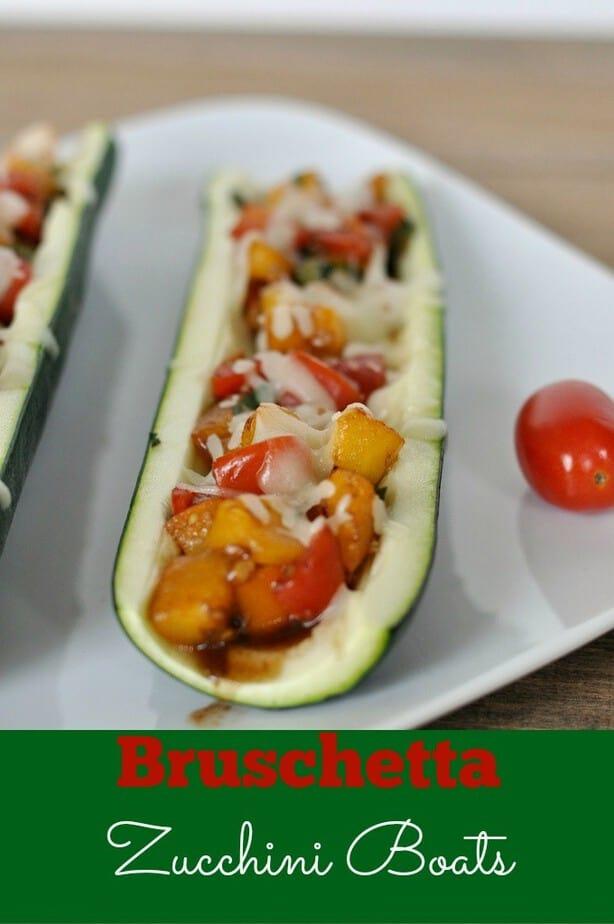 Bruschetta recipe zucchini boats