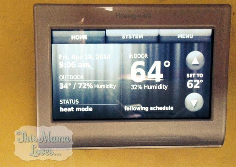 Money saving thermostat