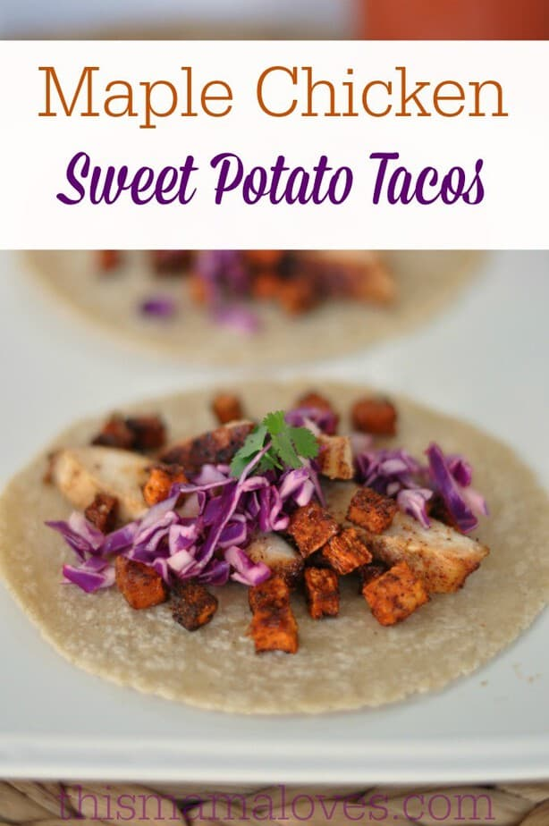 Maple Chicken sweet Potato taco recipe