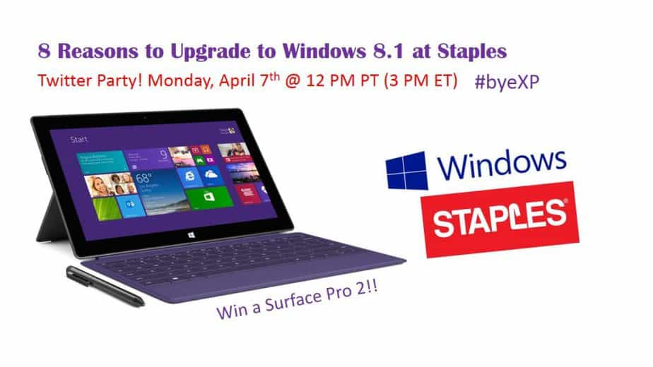 XP & Staples Twitter Party Promo Image