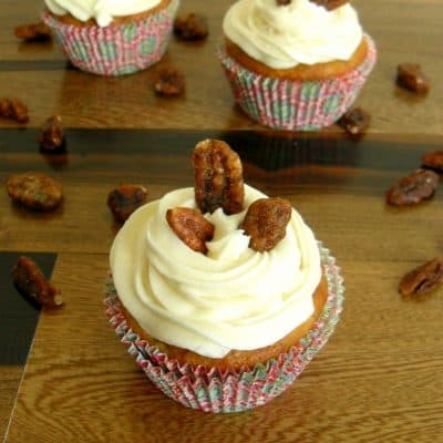Banana Maple Pecan Cupcakes Recipe